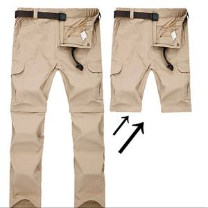 Men's convertible outdoors pants short L x 32